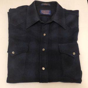 Vintage Long Sleeve Wool Pendleton Mens Shirt Sz M